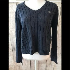 CHAPS Sweater Navy Blue ( Large)
